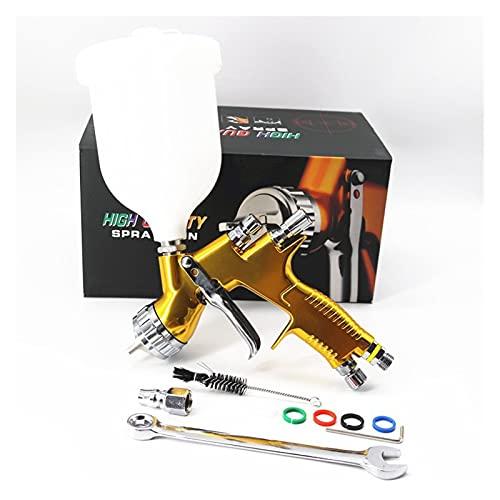 Pistola Pintura compresor Pistola Pistola TE20 / T110 1.3/1.8mm Boquilla Pistola de Pintura Air Spray Airbrush (Color : Gold, Size : 1.3mm TE20)