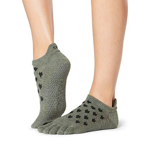 ToeSox - Calcetines de ballet, yoga, pilates, para mujer, talle bajo, S, Mischief