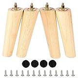 Patas redondas de madera de 20 cm, juego de 4 sofás...