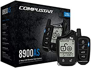 Compustar CS8900-AS-BL 2 Way LCD 1 Mile Range Remote Car Starter & Security System with Blade-AL Bypass Module Included