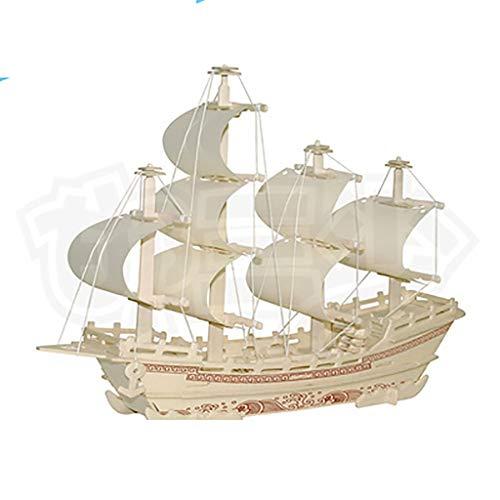 JYTTCE Kinder-Bildungs-Holz-Simulationsmodell Aus Holz DIY Zusammengebautes Ming-Dynastie Altes Segelboot 3D Dreidimensionales Puzzle Boutique Spielzeug (Color : 6)