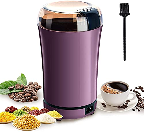AMshop India Portable Automatic Coffee Bean Grinder |Electric Coffee Grinder Grain with Replacement Stainless Steel Blade for Dry Herb Spice Peanut Grains Beans