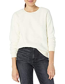 Lucky Brand Women s Sherpa Scoop Neck Pullover Sweatshirt Birch L