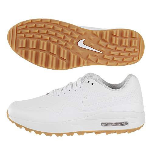 Nike Air Max 1 G Hommes Golf Chaussures AQ0863 Sneakers Trainers (UK 7 US 8 EU 41, White Black Gum...