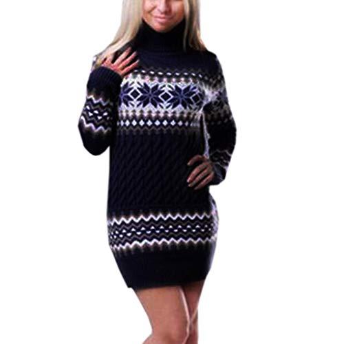 Luckycat Suéteres Vestidos Navideños Jersey de Navidad Pullover de Punto para Mujer...