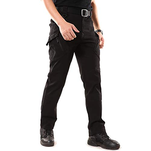 CHENXI Outdoorhose Herren Tactical Hosen (Schwarz L)
