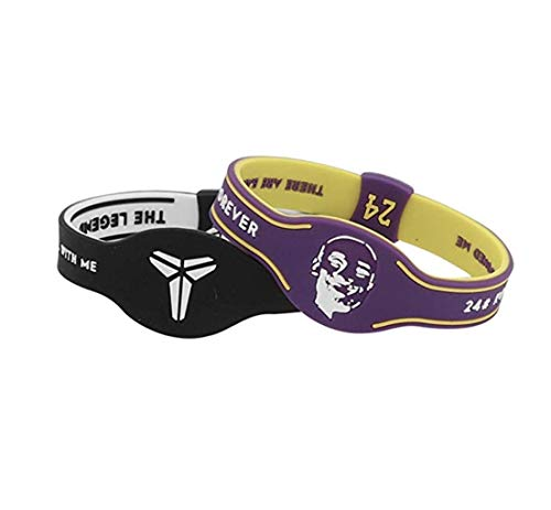 EASTVAPS 2 unids/Lote NBA Los Angeles Lakers Kobe Bryant 24 Pulsera de Silicona Luminosa Hebilla de Metal Ajustable