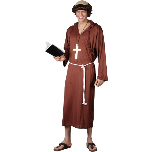Monk of the Abbey - Adult Costume Men : MEDIUM