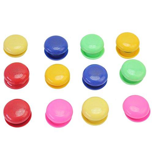 Lot de 24 boutons magnétiques ronds pour tableau blanc, couleurs assorties