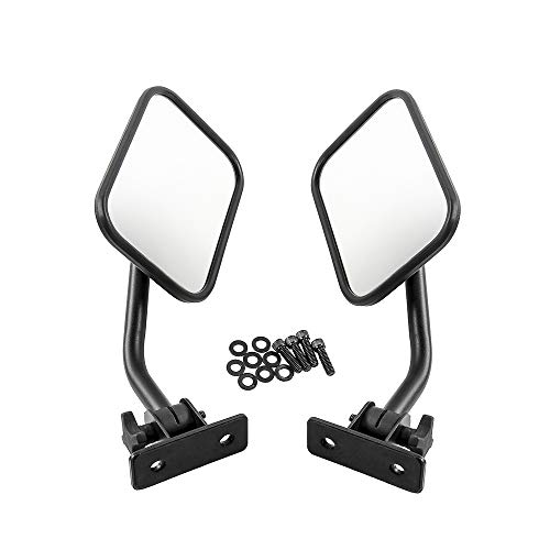 KKmoon Auto Rückspiegel Außenspiegel Rechteckspiegel 4x4 Offroad Spiegel Schnellspanner
