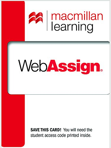 Compare Textbook Prices for WebAssign Standard Course Access Code First Edition Edition ISBN 9780716778493 by WebAssign