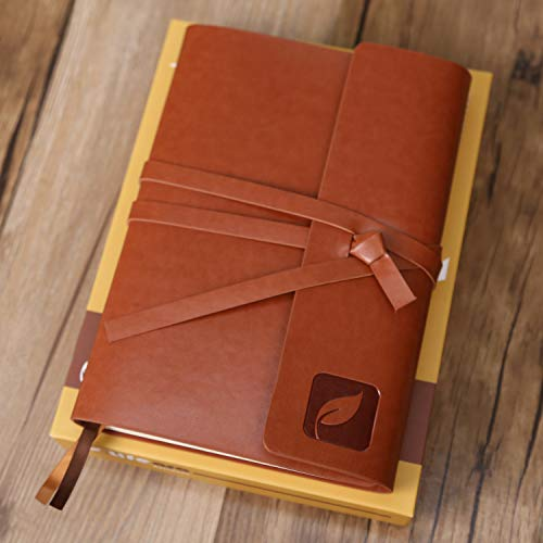 240 Pages College Ruled Journal, Leather Journal Lined Paper, Leather Journal for Women, Leather Journals for Men, Pu Leather Bound Notebook,Travel Journal Notebook,Writing Journal Notebook+ Gift-Box