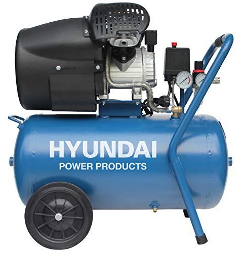 Hyundai compressor 50 liter met vochtafscheider - 8 BAR - 67dB - 320 liter/minuut - 3PK - 2200W