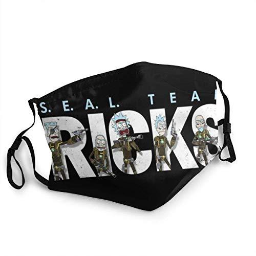 Ri-ck und Mor-ty Half Face Kopfbedeckungen Kopfbedeckungen Baumwolle Winddicht Anti Wiederverwendbar...
