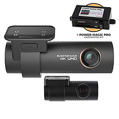 Blackvue DR900S-2CH with Power Magic Pro Hardwire Kit 2-Channel | 4K Duo Dashcam | WiFi Connectivity and Cloud functionality | Parking Mode Recording When Hardwired | 32GB SD Card
