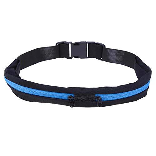 Prominy Bolsa Deportiva Bolsa De Cintura para Correr Bolsillo para Correr Portátil Impermeable Ciclismo Riñonera Teléfono Al Aire Libre Paquete Antirrobo Bolsas De Cinturón Azul