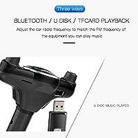 Mochid スマートBluetooth対応FMトランスミッターサポートハンズフリー通話&TFカード&UディスクのBT08のUSB充電MP3音楽プレーヤーカーキット