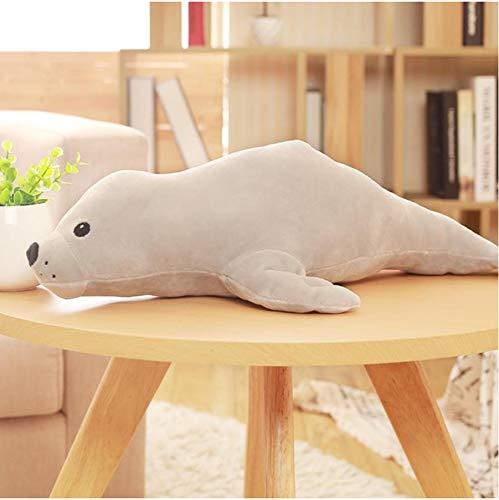 Mooie Zeedieren Seal Knuffel, Gevulde Pluche Zeehond Poppen, Zacht Kussen Kids Toy, Verjaardagscadeau 50Cm (Grijs)