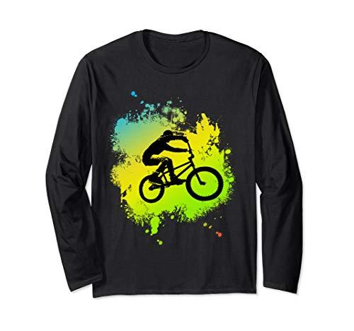 ideal Bmx Mountain Bike Geschenk für Downhill & Fahrrad Fans Langarmshirt