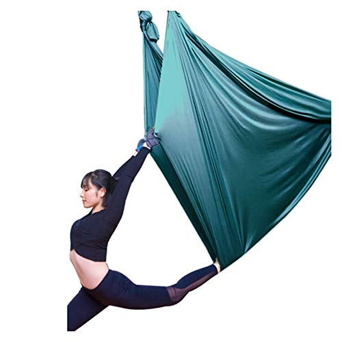 Columpio sensorial Aéreo de yoga Swing Swing Yoga Hamaca volando kit de yoga kit Sling Inversión Herramienta con 2 correas de extensión para el gimnasio para el hogar Accesorios de montaje en la aptit