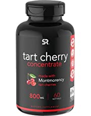 Tart Cherry Concentrate - Made from Organic Cherries; Non-GMO & Gluten Free; Packed with Antioxidants and Flavonoids - 60 Liquid Softgels,
