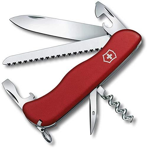 Victorinox Taschenmesser Rucksack (12 Funktionen, Feststellklinge, Korkenzieher, Holzsäge) rot