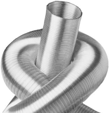 Unisolierter Alurohr L/üftungsrohr Schlauch Flexschlauch Aluflexschlauch Flexzion Aluminium Flexrohr /Ø 150mm L/änge 7,6m Rundrohr Ventilation L/üftungsschlauch f/ür Klimaanlage HVAC L/üftung
