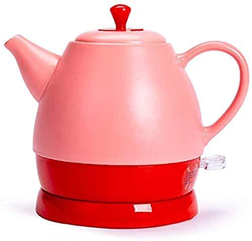 1L Elektrische Ceramic White Waterkoker Theepot-Retro RVS Jug BPA-vrij automatisch uitschakelen snel koken 1350W Eco Water Kettle rood dsnmm