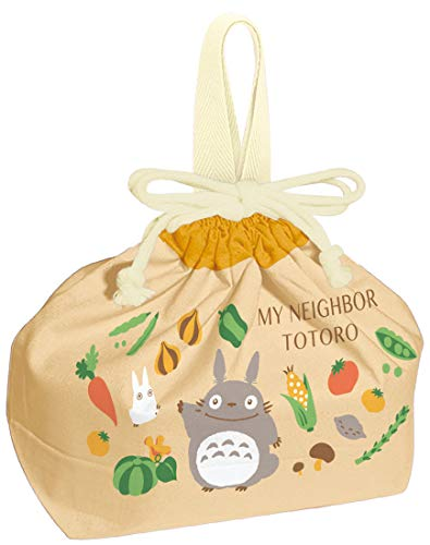 Skater Bolsa de almuerzo con cordón para niños, caja de almuerzo, bolsa de cordón Neighbor Totoro, Ghibli, 11.4 x 6.5 x 4.7 pulgadas (29 x 16.5 x 12 cm) KB7