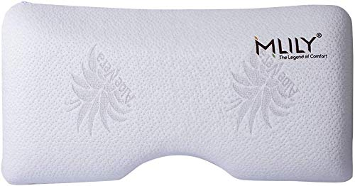 MLILY Serenity Premium Bed Pillow, Breathable Memory Foam Pillow, Cervical Pillow for Neck Pain, Support Back and Side Sleepers-Medium Firmness, Queen Size
