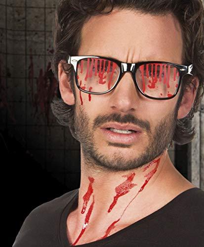 Occhiali Horror Bloody con lenti insanguinate