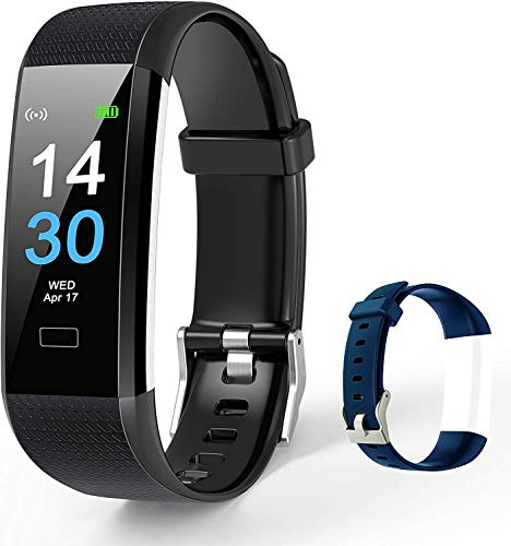 TOPLUS Smartwatch,Pulsera Actividad Inteligente,Cronómetros,Calorías,Monitor de Sueño,Podómetro Pulsera Actividad Inteligente Impermeable IP68 Smartwatch Hombre Reloj Deportivo para Android iOS