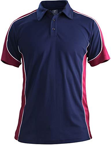 Chemise Polo Homme Chemise de Golf Tennis T-Shirt Militaire Armée Homme Manches Courtes Tee Tops Casual Manche Courte Shirt de Camping Randonnée Montagne Chemise T-Shirt Léger