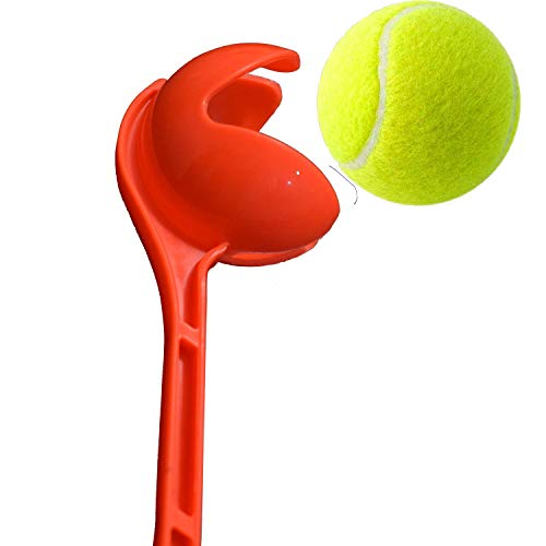 STCSPORTS Side Arm | Cricket Ball Thrower | Leather Ball Thrower (Orange) with Tennis Ball