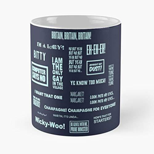 Baker Andy and David Walliams Lucas Comedy Britain Pollard Matt Tom Vicky Lou Funny Little Best Mug Tiene 11oz de Mano Hechas de cerámica de mármol Blanco