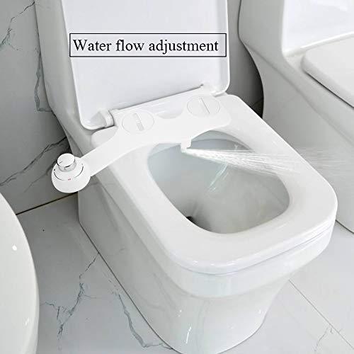 EBTOOLS WC Bidet, Ultradünne 3/8 Bidet Dusch Wasserstufen Hygiene Dusch Bidets Bidetaufsatz mit kaltes Wasser einzelne selbstreinigende Düse für Intimreinigung, 45 * 16.5 * 6.5cm