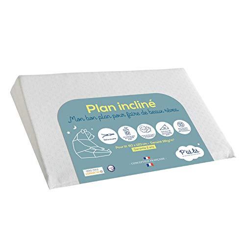 P'TIT LIT Plan Bébé 60x35 cm-pour lit 60x120 cm-Limite Les Reflux-Anti Acariens-Inclinateur 15°...