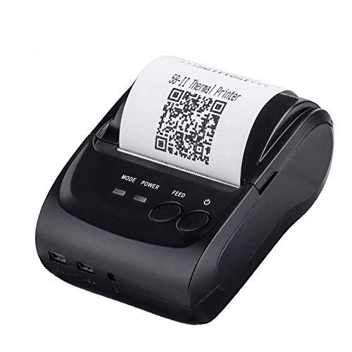 QCHEA 2 Inchs inalámbrica Bluetooth for Impresora de Recibos, de 58 mm portátil Mini Impresora térmica, Compatible con Android iOS Windows for la pequeña Empresa ESC/POS/Estrella, No Soporte Cuadrado