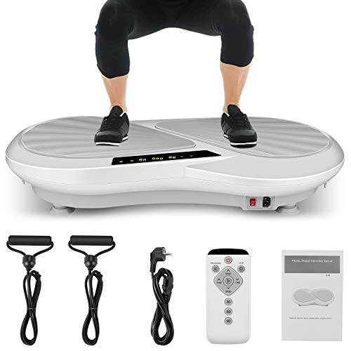 Caroma 3D Vibration Plate Exercise Machine Whole Body Fitness Vibration Platform Machine Vibrating Machine for Weight Loss & Shaping (White & Gray)
