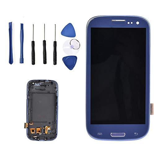 Display Set kompatibel mit Samsung Galaxy S3 i9300 i9305 i535 T999 i747, Reparaturset Komplett, Ersatz Bildschirm, Retina LCD Glas mit Touchscreen
