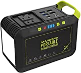 MARBERO 88Wh Portable Power Station 24000mAh Camping Solar Generators Lithium Battery Power Supply with 110V/80W(Peak 120W) AC, DC, USB QC3.0, LED Flashlight for CPAP Home Camping Emergency Backup