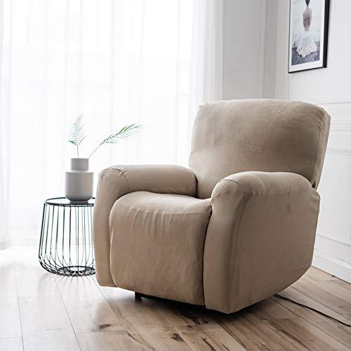 Dicker Stretch-Schonbezug, einfarbig, rutschfest, für Sofas, Möbelschutz, Couchhusse, ein Stuhl