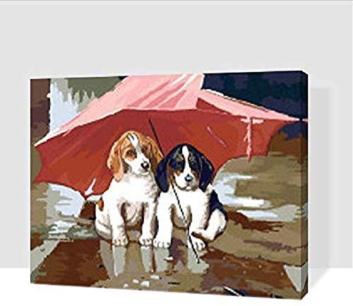 Houten puzzel speelgoed,Klassiek educatief speelgoed Stressverlichter voor volwassenen 3D Klassieke puzzel De honden onder de paraplu Dier DIY Leerpuzzel Woondecoratie Uniek -1000_pieces