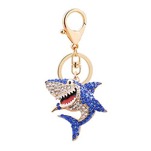 Shark Rhinestone Key Ring