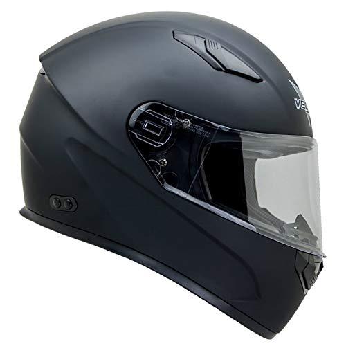 Vega Helmets 6100-060 Unisex-Adult Full Face Ultra Big Motorcycle Helmet for Men & Women w/Large Heads or Cheeks (Matte Black, 6XL)