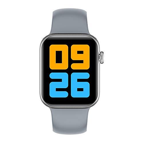 AIREQN Inteligente Reloj 1,78 Pulgadas 385 * 320 HD de Pantalla Hombres IP68 a Prueba de Agua Monitor de Ritmo cardíaco Deportes SmartWatch (Color : Gray)