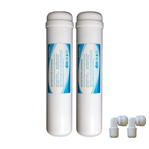 """LZH FILTER 2 Stück GAC Aktivkohlefilter Kartusche T33 Ersatzfilter für Filter unter die Küchenspüle - 280 mm - 1/4"""" FPT"""