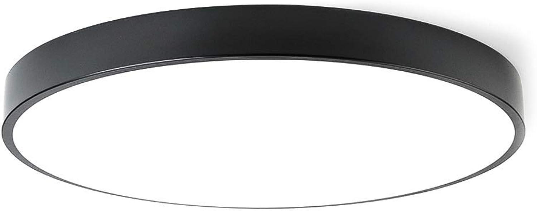 Oevina LED-Deckenleuchte mit Fernbedienung Wei, rund 18w in der Nhe der Decke Ultradünne 11,8-Zoll-Acrylglas 1170-1350lm für Schlafzimmerflur-Wei Dimmbar (Farbe   schwarz, Größe   Cold Weiß)