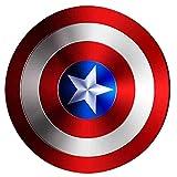 Getrichar Capitán América Escudo Hierro Forjado Edición de película 47 cm Edición de película de Mano Bar Decoración de Pared Hombres Adultos Cosplay Superhéroe Retro Accesorios de Vestuario