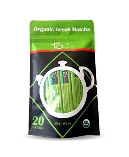 Touch Organic Matcha Tea Tubes (Green Matcha, 20 Count)